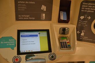 Paris Metro Tickets Automat