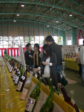 吉川区で開催される酒まつりです