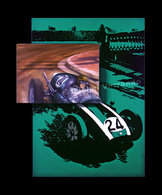 jack brabham automotive art f1 painting art automobile cooper grand prix monaco