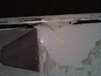 Riss in der Dachhaut