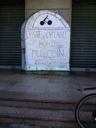 Piste cyclable route du Coin : 2010 - 2014