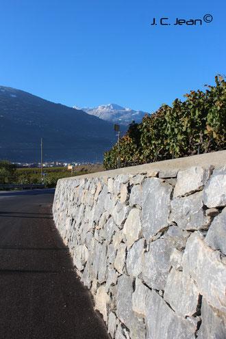 Elargissement de la route de Molignon
