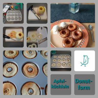 Apfelküchlein aus der Donutform von Pampered Chef®