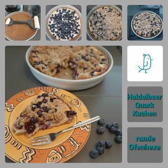 Heidelbeer Quark Kuchen aus der runden Ofenhexe von Pampered Chef®