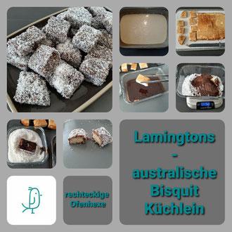 Lamingtons - australische Bisquitküchlein