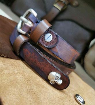 cintura artigianale in cuoio marrone