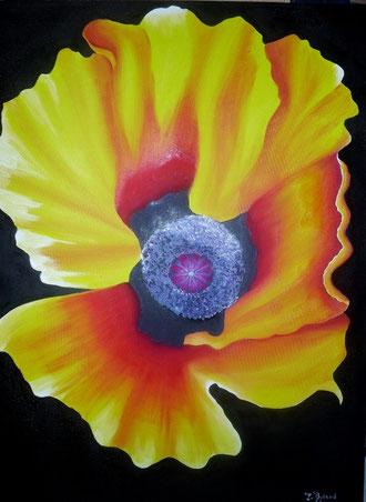 Une fleur géante et lumineuse