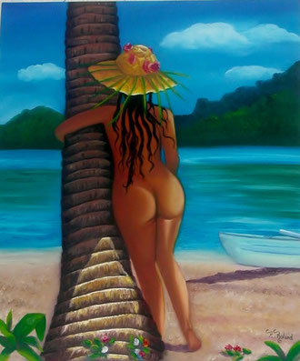jeune et jolie tahitienne
