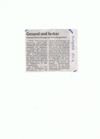 Sonntagsblitz 15.4.2012