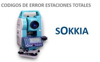 CODIGOS DE ERROR ESTACIONES TOTALES SOKKIA