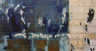 「神々の哀しみ」 油彩 100x200cm