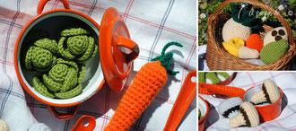 amigurumi, uncinetto, crochet, food, picnic