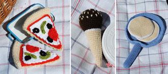 amigurumi, uncinetto, crochet, food