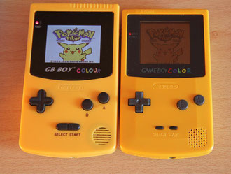 Comparativa entre la GB Boy Colour y la GB Color