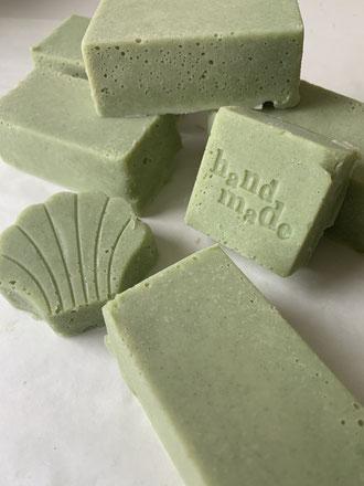 Making soap at home.