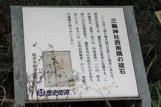 礎石の説明板