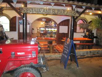 Das Restaurant Paraiso in Taganga