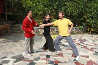 """Master Fu nous apprend un exercice de """"Push Hands"""""""