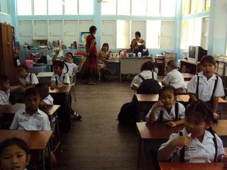 La classe des plus petits où Laetitia a enseigné
