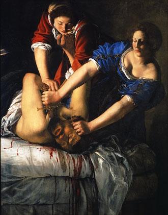 "3. ""Judith et Holopherne"", vers 1612-1614 Museo Nationale di Capodimonte. Photo : Museo Nazionale di Capodimonte (source : latribunedelart.com)"
