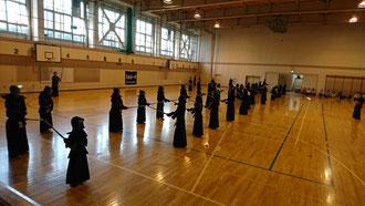 札幌西区3道場での剣道の稽古