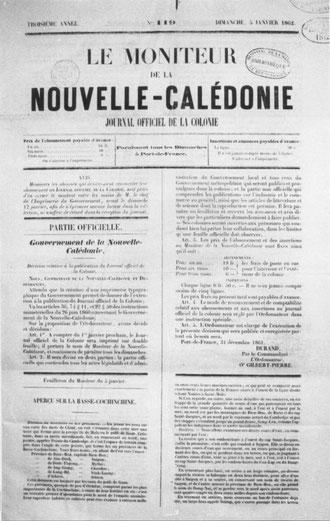 D04 - Le Moniteur de la Nouvelle-Calédonie, n° 119.