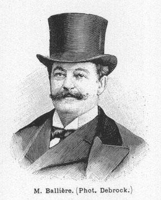 Achille Ballière, portrait gravé extrait du journal L'Illustration (1899)