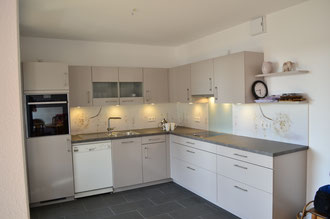 Küche mit Motivrückwand