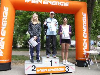 Eva-Maria Unger: 1.Platz Aquathlon (Jg. 1995 und jünger)