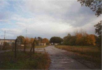 Blick über das ehemalige Bahnhofsgelände aus Richtung Hohes Rott