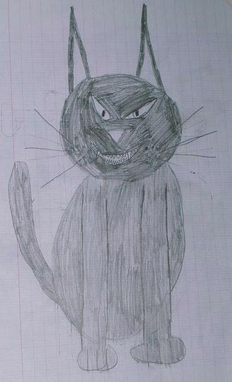 Timinou le chat, dessiné par un petit fan...