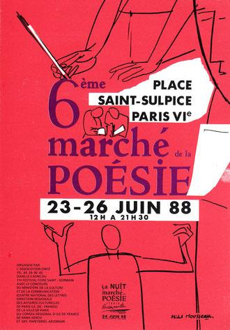 Affiche Marché Poésie 1988