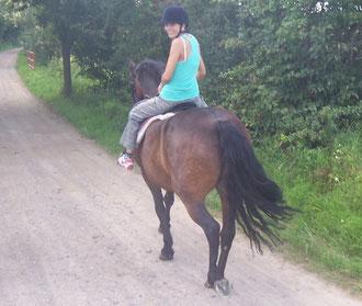 Jenny lernt reiten auf Monty