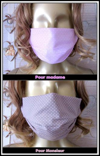 Masque de confinement en tissu 3 couches