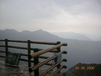la pluie en montagne