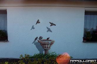 Graffiti streetart mit tiermotiven