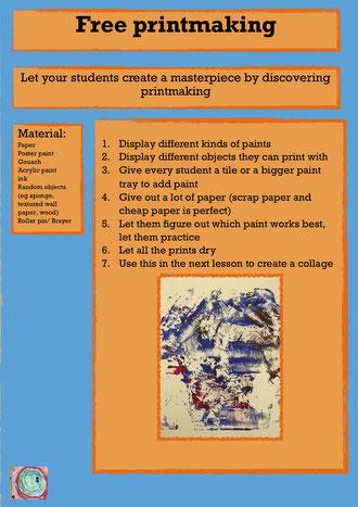 basic printmaking lesson easy art lesson KS1 KS2