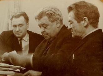 В центре Н.А. Барсуков. Фото Ивана Терехина - Соколова   24 декабря 1967 года