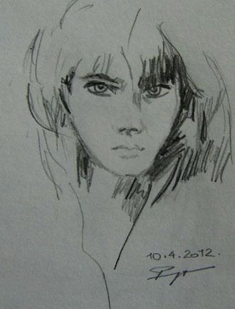 Modell 2 Grafitstiftzeichnung