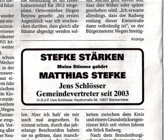 Jens Schlösser (MAZ/Zossener Rundschau 24.9.2011