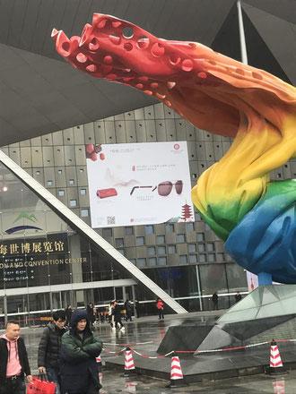 Eingang zur Optik Messe Shanghai 2019