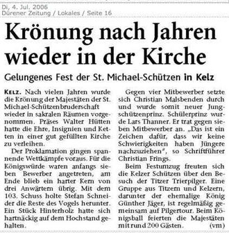 Dürener Zeitung 04.07.2006