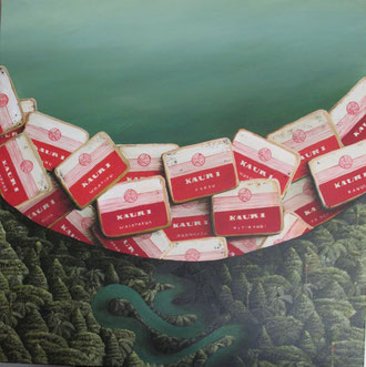 'Kauri Dam',610 x610mm,oil on canvas, 2011. SOLD