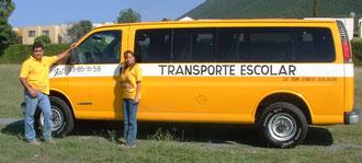 Camionetas van transporte escolar