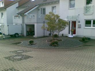 Kiesvorgarten Schwedischer Granit