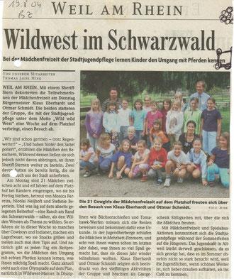 Badische Zeitung, August 2004