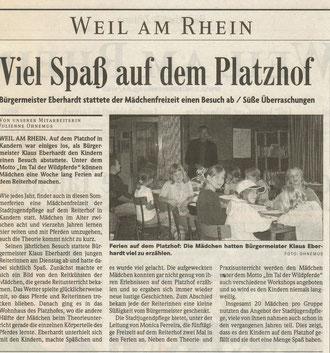 Badische Zeitung, August 2005