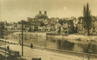 Postkarte - Maasufer nach dem Krieg