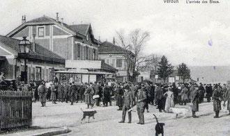 Bahnhof Verdun zu Beginn des Krieges