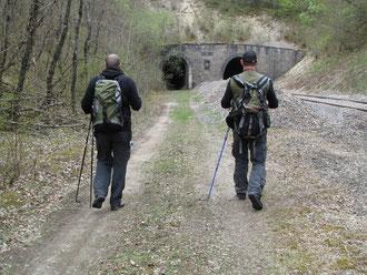 Arne B. und ich auf dem Weg zum Tavannestunnel